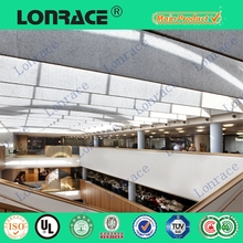 suspended mineral fiber false ceiling, quiet space, beautiful decoration for office, hospital,restaurant,hall,etc