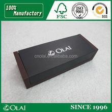 Deluxe black cardboard gift pen box luxury pu pen box