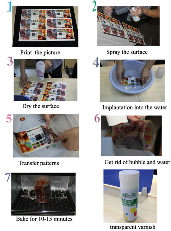 novos produtos de água A4 branco papel de transferência de 20 folhas / pack