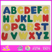 Hot new product for 2015 Wooden Capital Letters Puzzle,ABC Puzzle Teaching Aids,Cheap Wooden toy Alphabet Puzzle toy WJ276886-A1