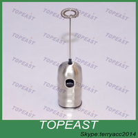 high quality Double whisks wireless stainless steel hand held milk frother