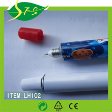 2015 best selling tooth paste pen plastic pen with full color printing