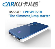 Hot selling 6000mAh slim 200g 12V portable mini jump starter with usb charger