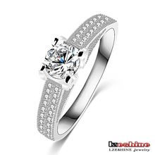 Forever Love Gift Jewelry Ring for Woman 18K White Gold Filled Zirco Thin Ring CRI0244-B