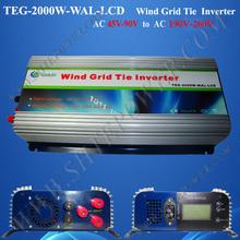 3-Phasen-Wechselstromeingang 45-90v AC 190-260v Ausgangswindrasterfeldinverter 2000w