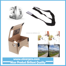 Virtual Reality VR Cardboard 3D Glasses for Mobile Phone 5.0 Screen + Adjustable Head Mout Strap Belt