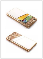 New Unique Style PU Leather Phone Back Cover Case With Card Slot For iPhone 6 4.7&5.5 inch