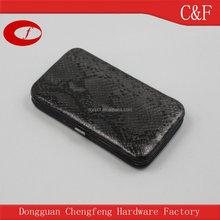 Hot selling Snake Pu box Clutch Purse, Credit Card Clip Phone Purse For Iphone 6, 6 plus, HTC, Samsung