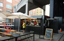 mobile container restaurant/container bar/prefabricated bar