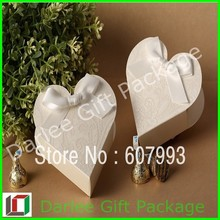 white heart shape for wedding personalized gift box