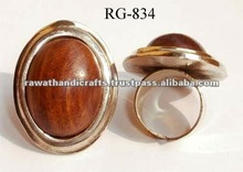 Brass Wooden Fashion Finger Rings
