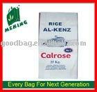 Reciclar PP tejido arroz bolsa PP tejidos laminados a prueba de agua de azúcar 50 kg bolsa MV-0009