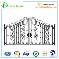 Powder coating wrought iron gate designs for sale