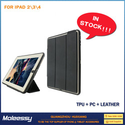 Good price universal smart leather smart case for ipad 4