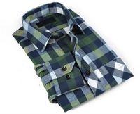 Hot promotion good quality long sleeve plaid shirt 2015