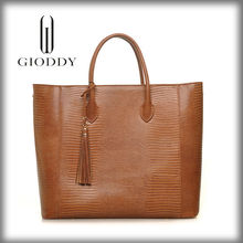 Leather handbag branded new style 100% genuine leather tote bag christmas handbags
