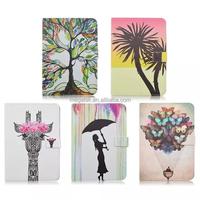 super slim colorful printing pu leather case for ipad mini 4 , for ipad mini 4 leather case customize
