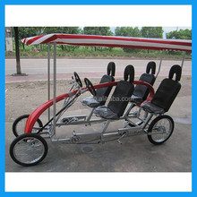 4 wheel surrey bike with child seat for 4 person