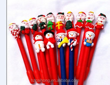 Wholesale Christmas item 15 style optional promotion polymer clay ballpoint pen CH-6719