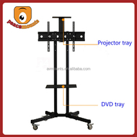 """For TVs up to 32""""-70"""" screen movable and free standing up and down TV cart"""