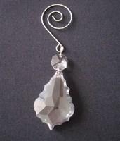 63mm Maple leaf crystal hanging drops for chandelier parts +U hook lamp prism
