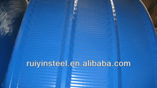China Factory Galvanized arch corrugated color steel roofing sheet RAL YX820