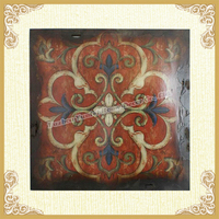 Red lacquer dresser sophisticated wall hanging