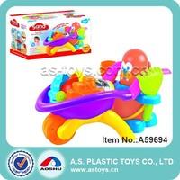 12 pieces summer beach tool toy beach cart for kid