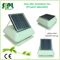 solar powered home radiator 12 watt portable air ventilation fan