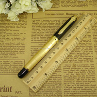 Black and Silver Metal Roller Ball Pens Smooth Writing Liquid Ink Pen Office & School Supplier Writing Instrument Logo Pen