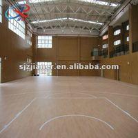 comfortable foot feeling pvc vinyl floor for basketball court