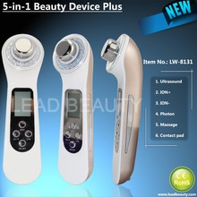 Facial cleaning appliance with ultrasounc ion photon and massage functions