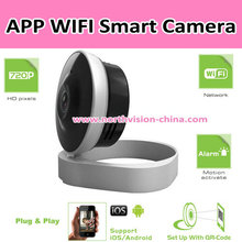 Wifi security camera system with 11pcs LED IR lens and two way talk function