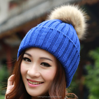 Candy Winter Hats for women Beanie Knitted Caps Crochet Hat Rabbit Fur Pompons Ear Protect Casual Cap Chapeu Feminino