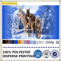high quality 3d wolf printed fabric 100% polyester bed sheet fabric