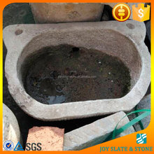 2015 top selling bluestone garden stone troughs/rectangle stone pots/garden flower troughs