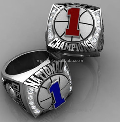Basketball Championship ring with enamel color custom made