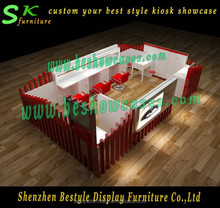 Customized baking paint eyebrow kiosk for sale beauty salon furniture with LED lights display