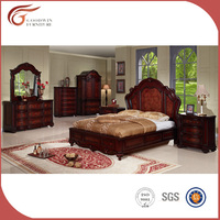 Beautiful classic bedroom furniture set from factory, top class quality antique bedroom furniture (WA137)