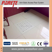 Data Center Steel perforated raised access floor with 10mm ceramic tile for ventilation