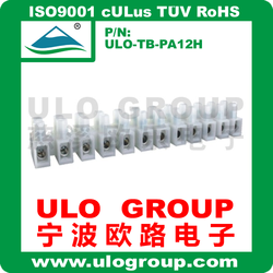 One straight with white color feed through terminal block 022 from ULO Group