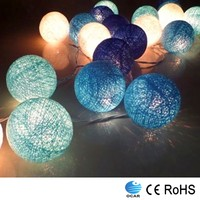 Decorative new style Thailand cotton ball led Christmas string light