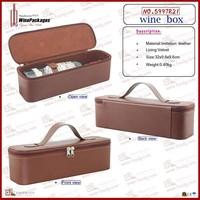 wine box packing,leather gift box, wine presentation box