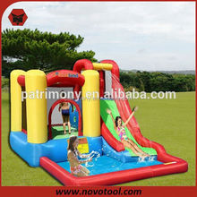 red pillar inflatable water slide