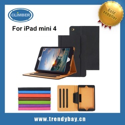 2015 unique style shockproof leather case for ipad mini 4 with document holder