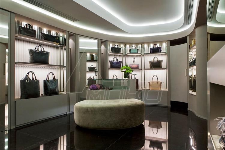 moko de luxe en verre tremp led clairage sacs main vitrine pour sac main magasin design et. Black Bedroom Furniture Sets. Home Design Ideas