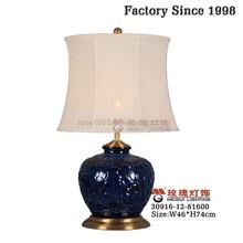 ceramic home decoration lamp in black blue