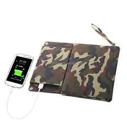 12W(3*4W) Outdoor foldable Solar Charger Bag 5000mAh Double output portable power bank