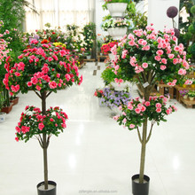 2015 new design indoor decorative artificial silk flowering trees factory wholesale 13 branches 150cm flowering plant bonsai