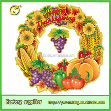 3D Paper outdoor Thanksgiving Decoration with Fruits Wall Sticker